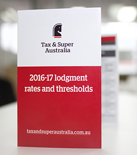 2016-17 Lodgment Rates and Thresholds Pocket Guide